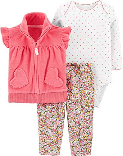 Carter's Baby Girls' Vest Sets (12 Months, Pink/Multi)
