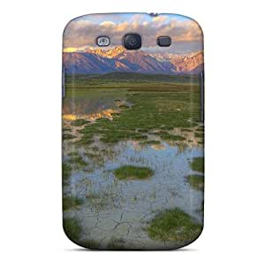 Protection Case For Galaxy S3 / Case Cover For Galaxy(huge Marsh To A Mountain Range)