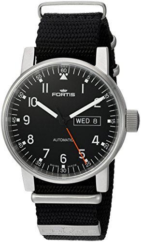 Fortis Men's 623.10.71 N.01 Spacematic Pilot Proffesional Analog Display Automatic Self Wind Black Watch