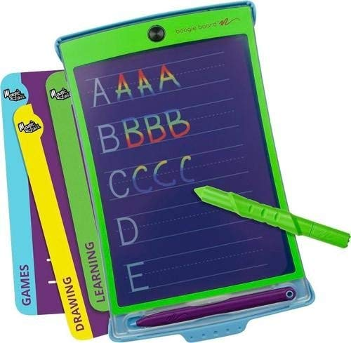 (Boogie Board Magic Sketch Color LCD Writing Tablet + 4 Different Stylus and 18 Stencils for Drawing, Writing, and Tracing eWriter Ages 3+)