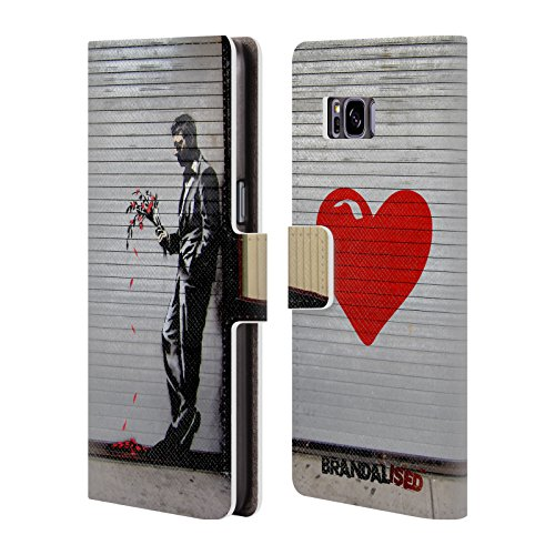 Official Brandalised The Hustler Banksy Art Street Tags Leather Book Wallet Case Cover for Samsung Galaxy S8+ / S8 (Hustler Leather)