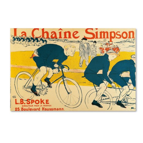 Catene Simpson Artwork by Henri Toulouse-Lautrec, 16 by 24-Inch Canvas Wall Art ()