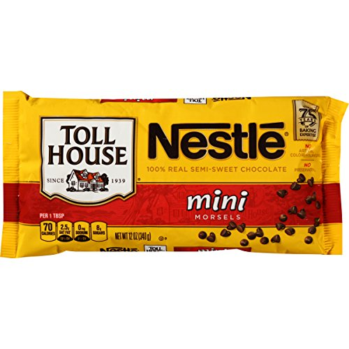 Nestle TOLL HOUSE Semi-Sweet Chocolate Mini Morsels 12 oz. Bag