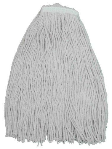 Zephyr 10032 Shineup 4-ply Cotton 32oz Cut End Wet Mop Head with 1-1/4'' Regular Headband (Pack of 12) by Zephyr