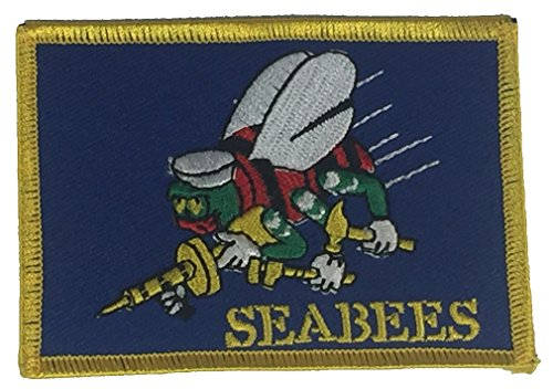 US NAVY SEABEES FLAG PATCH - Color - Veteran Owned Business