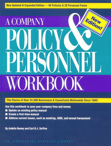 Company Policy and Personnel Workbook