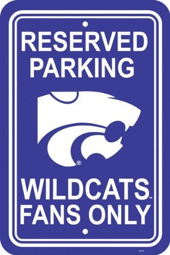 (NCAA Kansas State Wildcats 12-by-18 inch Plastic Parking Sign)