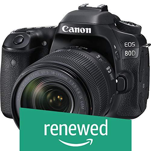 Canon EOS 80D Digital SLR Kit with EF-S 18-135mm f/3.5-5.6 Image Stabilization USM Lens (Black) (Renewed)