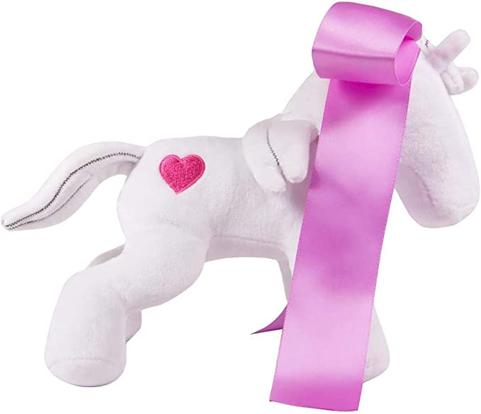 7 Inch Tall Homestuck Maplehoof Plush 2 Embroidered Hearts and Hair With Abright Pink Ribbon Bow