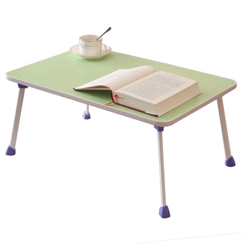 Foldable Bed Lazy Table Small Laptop Desk Breakfast Serving Tray Portable Sturdy Durable, 3 Colors GAOFENG (Color : Green, Size : 60x40x28cm) by GAOFENG-Folding Table (Image #1)