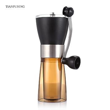 Wenquan,Amoladora Manual de café Máquina de pulir a Mano portátil(Color:CAFÉ Y Negro): Amazon.es: Hogar