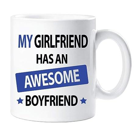 mi novia tiene un GENIAL novio Taza Novedad Divertido Taza ...