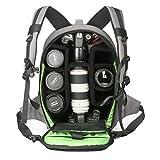 Abonnyc DRLBP-CG Waterproof Anti-shock Backpack for DSLR and SLR Cameras Case,Grey