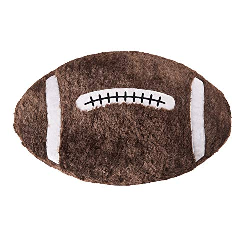Ozzptuu Sports Theme Stuffed Plush Throw Pillow Oval Shape Back Cushion Home Office Sofa Decor (Rugby)