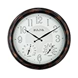 clocks with lighted dials - Bulova C4851 Weather Mate Lighted Dial Wall Clock, 22