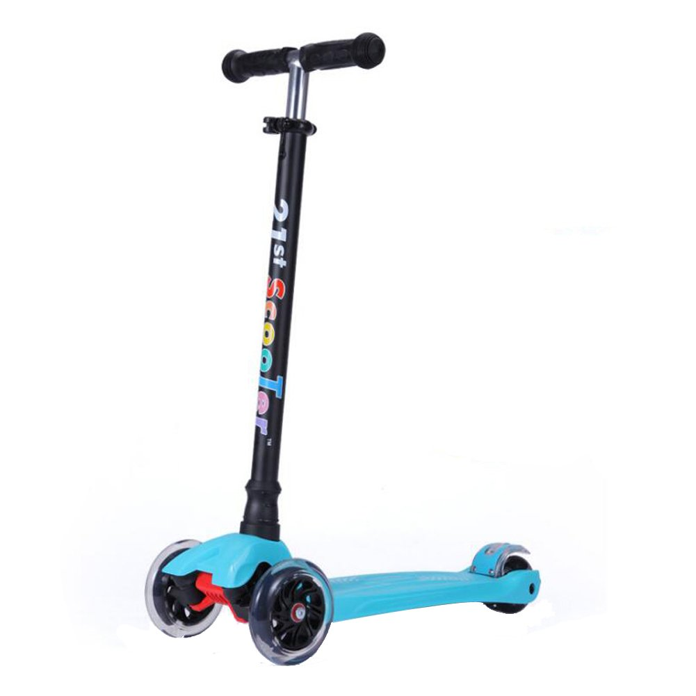 Scooters for Kids,Kingo 3 Led Light Up Wheels Scooter for Toddlers with Adjustable Height for Children Over 3 Years Old