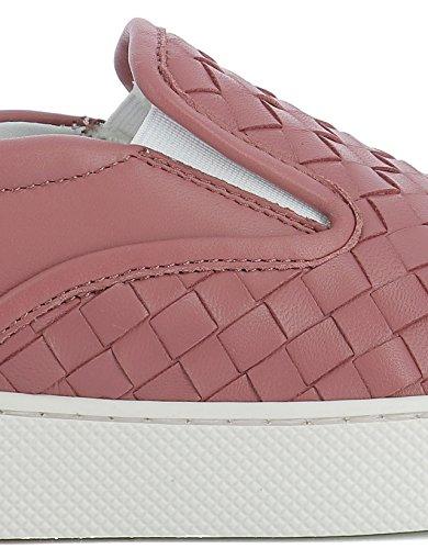 Rose Bottega Skate Veneta De Chaussures Cuir 370760V00135707 Femme C7ftrw7q