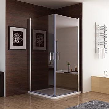 Erstaunlich Duschkabine Dusche Duschwand 180° Schwingtür Eckeinstieg NANO Glas  XB73