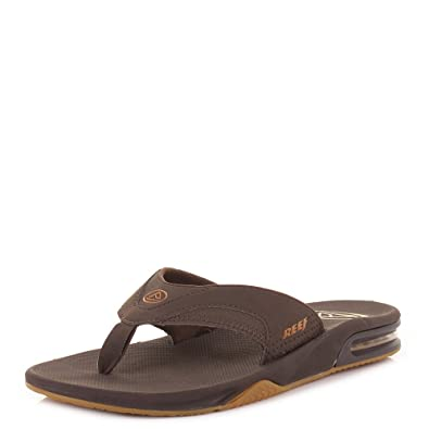 a0a2c26365516 Mens Reef Fanning Brown Brown Gum Flip Flops SIZE 10  Amazon.co.uk  Shoes    Bags