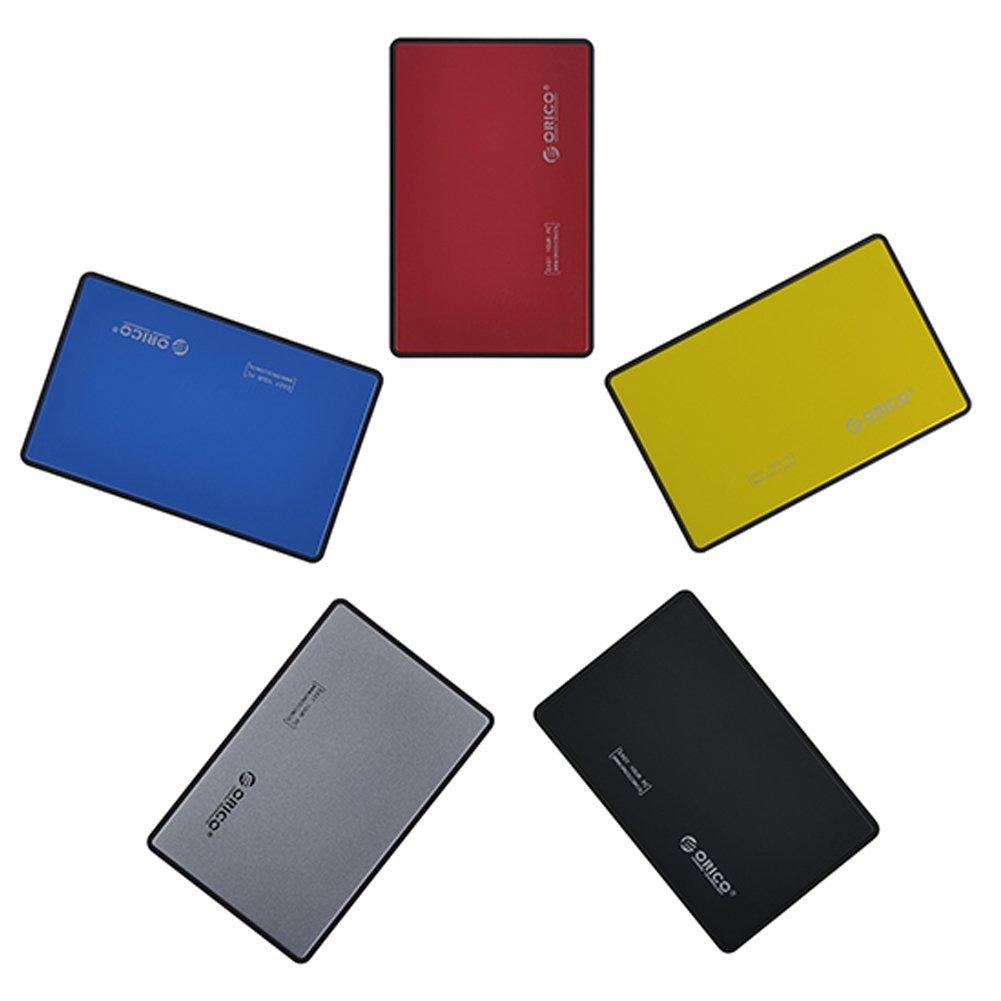 omufipw - Caja de Disco Duro con Puerto SATA USB 3.0 (5 Colores)