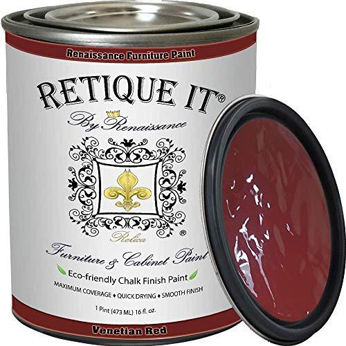 Retique It Chalk Furniture Paint by Renaissance DIY, 16 oz (Pint), 58 Venetian Red