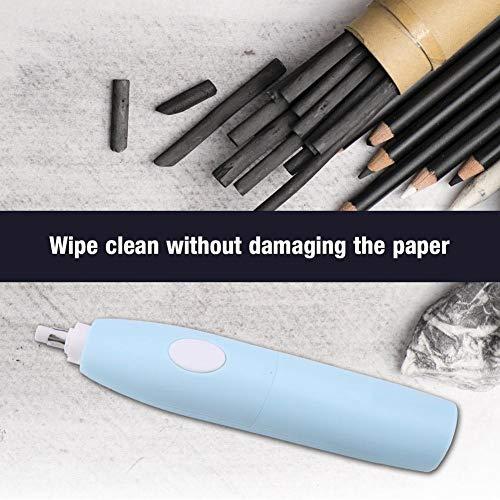 Garosa Electric Eraser Kit Portable Battery Operated Pencil Eraser with 16 Eraser Refills for Artists Students(Blue) by Garosa (Image #1)