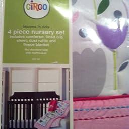 Circo Blooms and Dots 4-Piece Nursery Set
