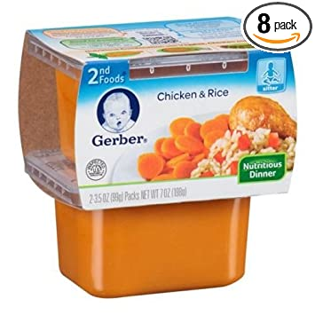 Gerber 2nd Foods Chicken Rice Baby Food 7 Ounce 8 Per Case