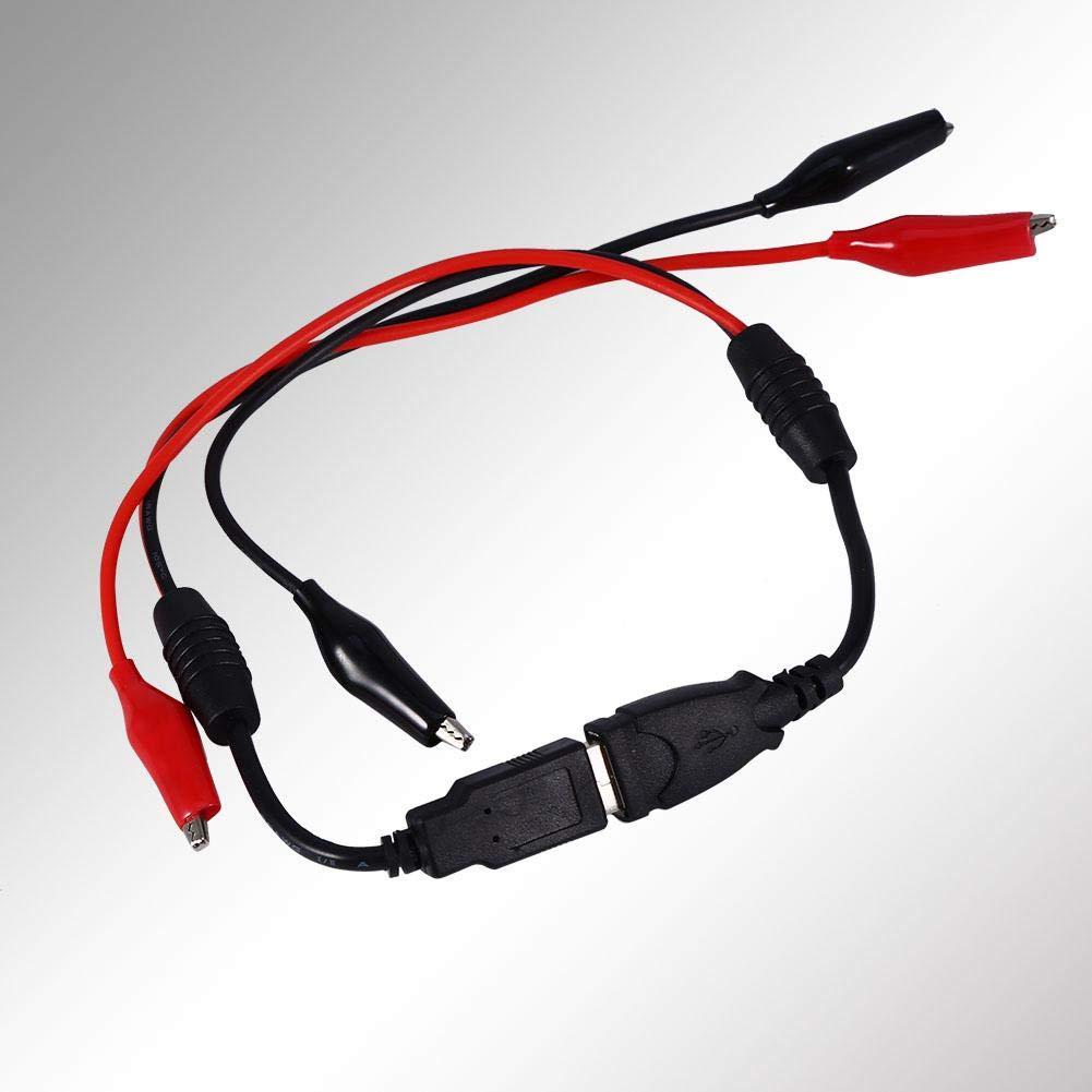 Topiky Pinzas de cocodrilo USB Cable de cocodrilo Macho Hembra a Conector de l/ínea USB Detector Capacidad de Voltaje Probador Cables de Prueba Abrazaderas de cocodrilo