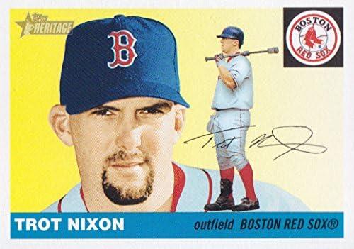 2004 Topps Heritage Baseball 312 Trot Nixon Boston Red Sox