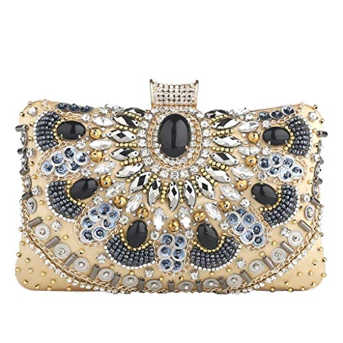 Chain Bag Banquet Diamond Hand Retro 158 Dinner Hand JUZHIJIA Handbag gold Bag Celebrity wIpaqE4x