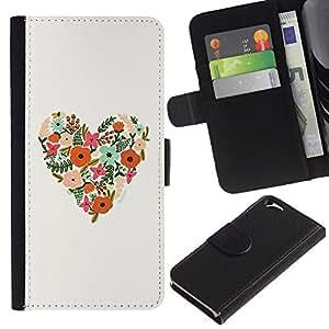 KingStore / Leather Etui en cuir / Apple Iphone 6 / Patrón floral de la primavera Summer Love;