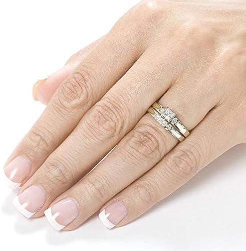 Kobelli Diamond Wedding Set 1/2 carat (ctw) in 14K White or Yellow Gold