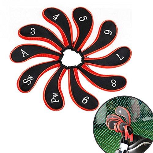 10pcs/set Washable Sleeve Neoprene Golf Club Iron Putter (Single Neoprene Golf Headcover)