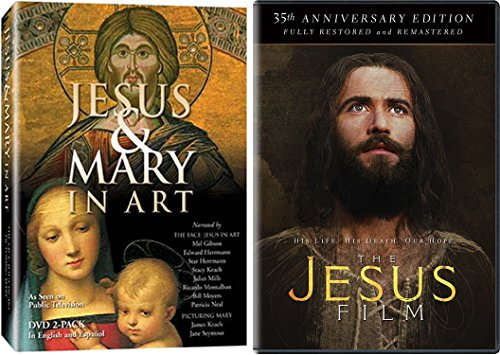 Jesus in Art and Film - Jesus & Mary in Art (2-DVD Set) & The Jesus Film 2-Movie Bundle