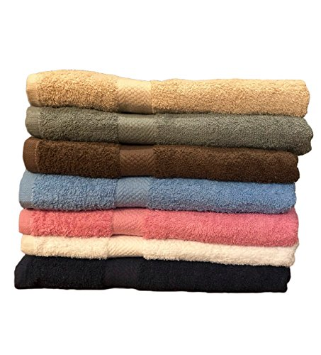 "ArtMuseKitsMikash ecotowel ECO Towels 6-Pack Bath Towels - Extra-Absorbent - 100% Cotton - 27"" x 54"""