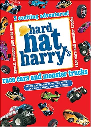 Amazon Com Hard Hat Harry Race Cars And Monster Trucks Hard Hat