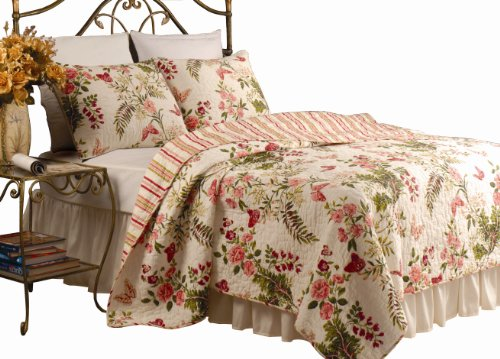 Greenland Home Butterflies Kings Quilt Set
