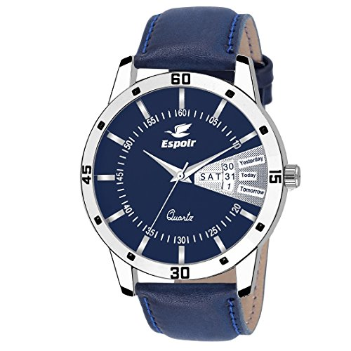 Espoir Analog Blue Day and Date Dial Men's Watch LatestStrap