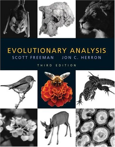Evolutionary Analysis, Third Edition