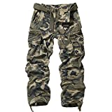 Men's Outdoor Woodland Military Cargo Pant Camo US Size 38(Lable Size 40)