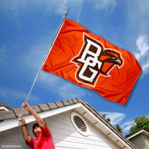 College Flags and Banners Co Bowling Green State Falcons BG Logo Flag