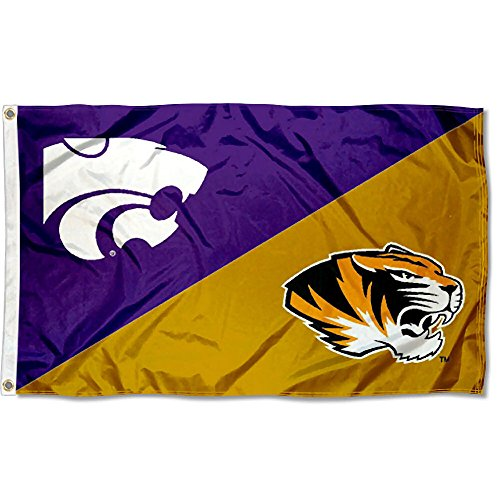 College Flags and Banners Co. Missouri vs. Kansas State House Divided 3x5 Flag