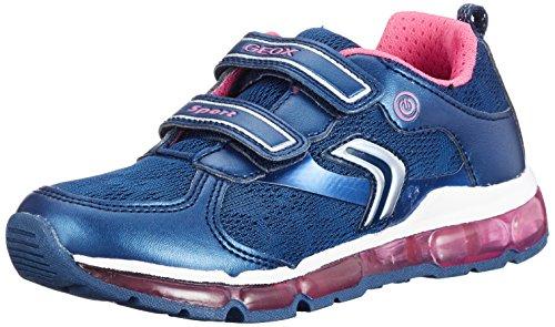 Geox Android a, Zapatillas Para Niñas Azul (Navy/fuchsia)