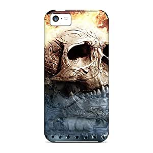 Protective Tpu Case With Fashion Design For Iphone 5c (skull)