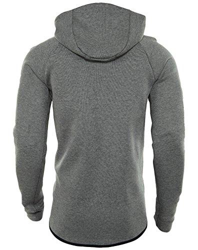Nike Heren Sportkleding Tech Fleece Windrunner Capuchon Carbon Heather / Zwart