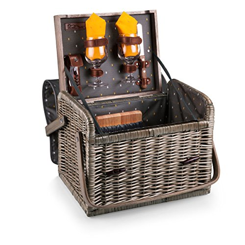 (Picnic Time Kabrio Picnic Basket with Wine and Cheese Service for Two)