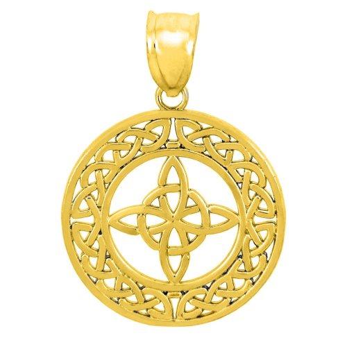 14k Gold Round Trinity Pendant ()