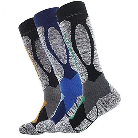 Amazon.com: KathShop New Winter Thermal Ski Socks Cotton Spandex Sport Snowboard Long Socks Wearable Thermosocks calcetines de Ciclismo Size: Kitchen & ...