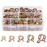 INCREWAY 90pcs Spring Clips Silicone Vacuum Fuel Hose Line Water Pipe Air Tube Clamps Fasteners Assortment Kit 7mm 10mm 11mm 14mm 16mm 17mm